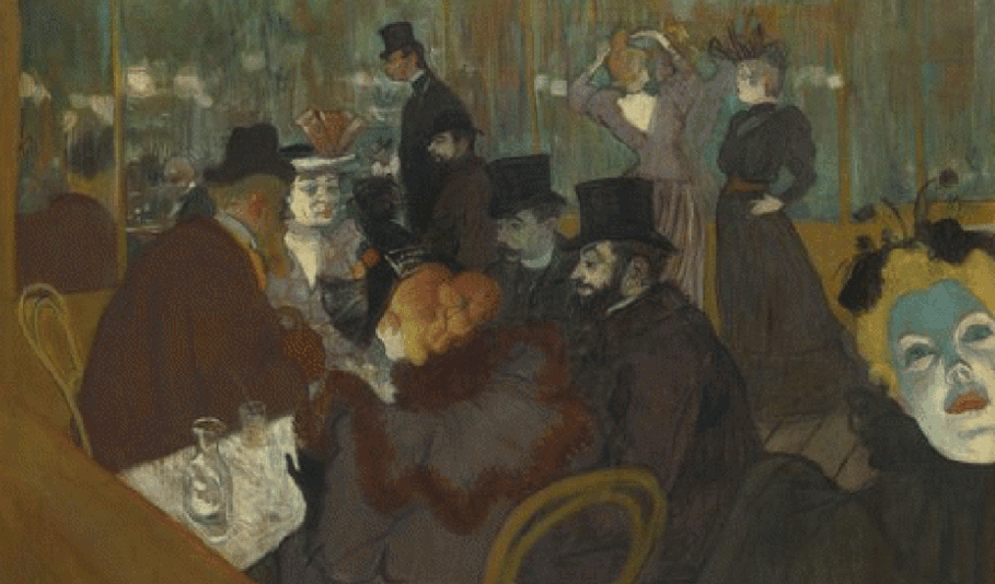 Au Moulin Rouge' by Henri de Toulouse-Lautrec