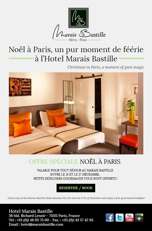 Marais Bastille Christmas special offer 2012