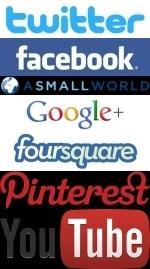 Social networks logos vertical