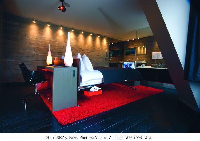 Bar champagne Paris - Hotel Sezz - Suite Eiffel - Photographe Manuel Zublena