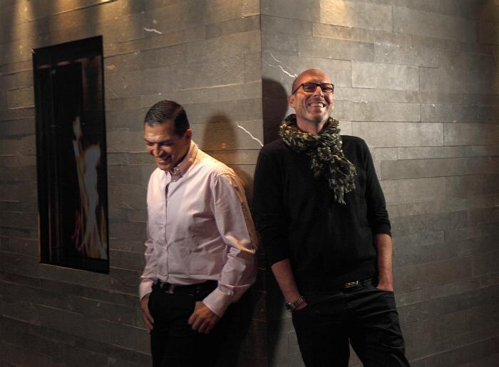 Shahé Kalaidjian, Hôtelier créateur et Directeur des hôtels Sezz, et Christophe Pillet, Designer