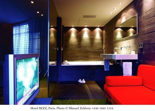 Loft et Suite Eiffel du Sezz Hotel - Salle de bain du Loft