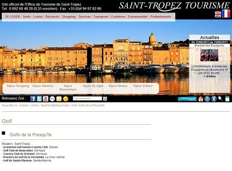 Golf Saint-Tropez - site internet de l'office du tourisme