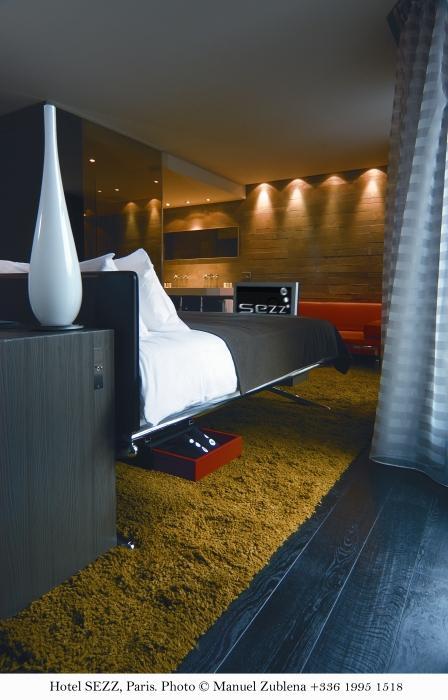 Meilleurs design hotels luxe Paris - Hotel SEZZ