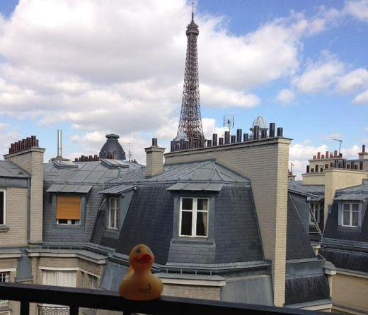 Hotel Sezz Duck - view from Eiffel suite